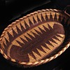 My Antique beautiful Apache double handled oval tray basket