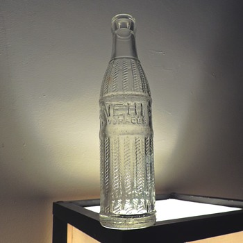1953 Nehi Soda Bottle Owens-Illinois Duraglas Vintage Clear Embossed 7 Ounces - Bottles