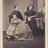 Expressive Family Portrait CDV by Uncredited Studio