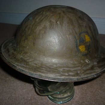 American (AEF) WW1 steel helmet - Military and Wartime
