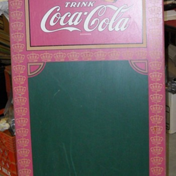 RARE german coke sandwich board sign - Coca-Cola