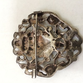Antique Silver Brooch Pin - Fine Jewelry