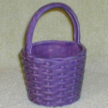 Haeger Pottery Purple Basket - Pottery