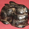 Vintage Japanese  Made Cast Iron Hare