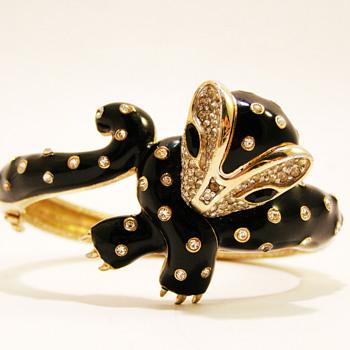 Vintage Panetta Bobcat Bracelet - Costume Jewelry
