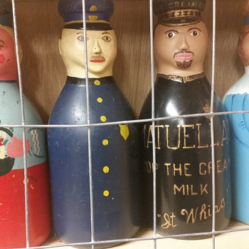 """FOLK ART"" baby tops & cop the cream milk bottles"