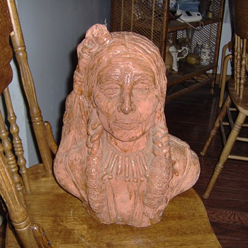 Old Terracotta Indian Bust - Pottery