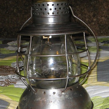 1871 LS & MS Ry lantern. Made by Parmelee & Bonnell - Railroadiana