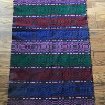 Wool woven horse blanket Native American? - Native American