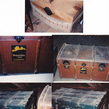 5 trunks 1850-1900s - Furniture