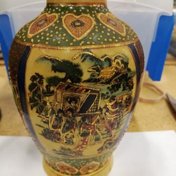 Rose Medallion Type Vase  - Pottery