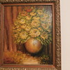 """Zinnias"" in Oil by: E Rea American Oil Painter 1868 - 1927"