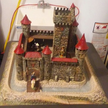 Vintage Hausser Germany Elastolin Castle Playset - Toys