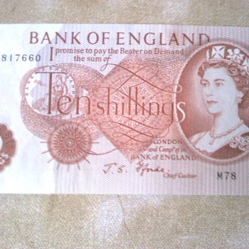 1967-bank of england-10 shilling note