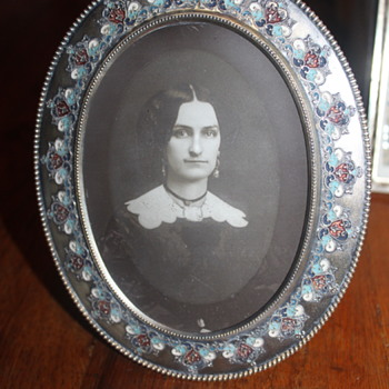 A Victorian E.G. Webster & Sons Silver-Plated Champlevé Photo Frame - Fine Art