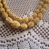 100 + YEAR OLD CARVED ELEPHANT IVORY (CHINESE) GRADUATED ROSES, NECKLACE VERY YELLOWED