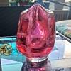 Seguso Glass Console Vase pulegoso merletto