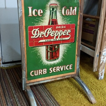 Newly Acquired 1937 Dr. Pepper sign.   - Advertising