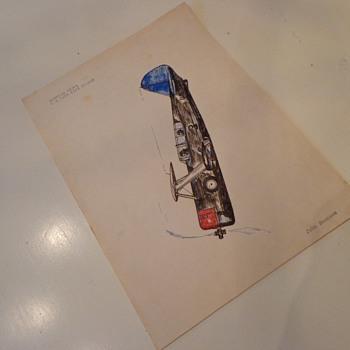 Vintage Plane Drawing by, John Summers - Advertising