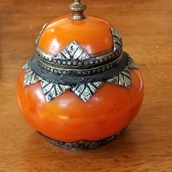 Unusual Brass Lined Covered Jar ( Tibetan ?) - Asian