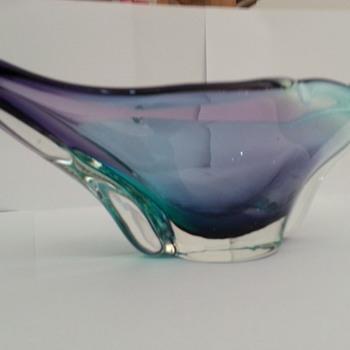 ART GLASS PURPLE & BLUE CASED  - Art Glass