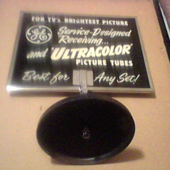 GENERAL ELECTRIC TUBE ADS MIRROR - Advertising