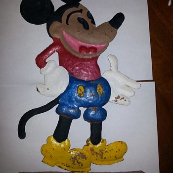 Very old Mickey Mouse comic book Trade sign??  - Advertising
