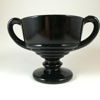 Black depression glass sugar bowl  - Glassware