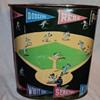 1950's baseball metal waste barrel