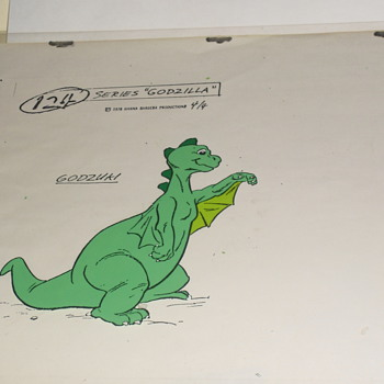 Godzilla (animated series) Model Cel's