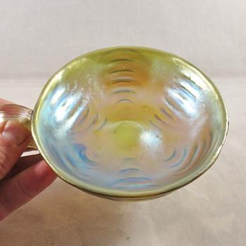 Loetz PN-II 5042 in Candia Wellenoptisch mit silberhenckel ca 1907 - Art Glass