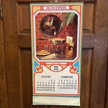 1976 Budweiser calendar - Breweriana