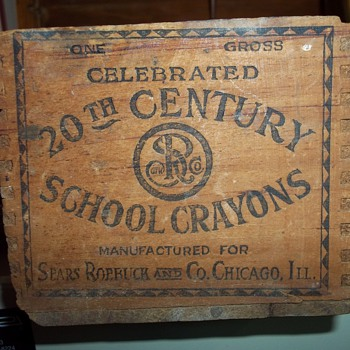 SEARS/ROEBUCK CRAYON BOX