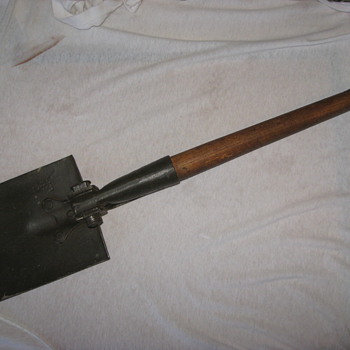military pick-shovel 1950 ? has various markings or hallmark's. - Tools and Hardware