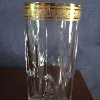 Crystal glass with Gold trim - Glassware