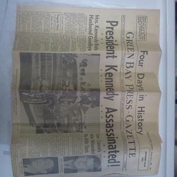 Kennedy Assassination..Green Bay Press Gazette