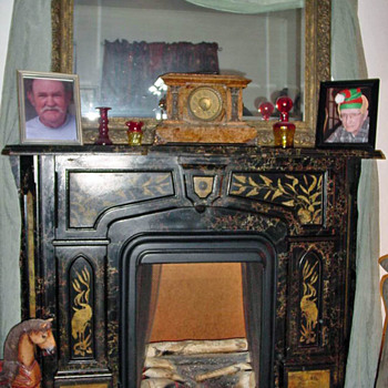 late 1800's or early 1900's fire place - Furniture
