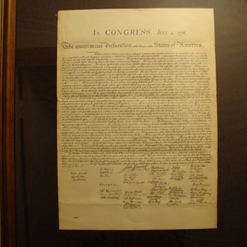 """Vintage"" Copy of~ "" The Declaration of Independence "" July 4 1776 (Mystery!!!) - Politics"