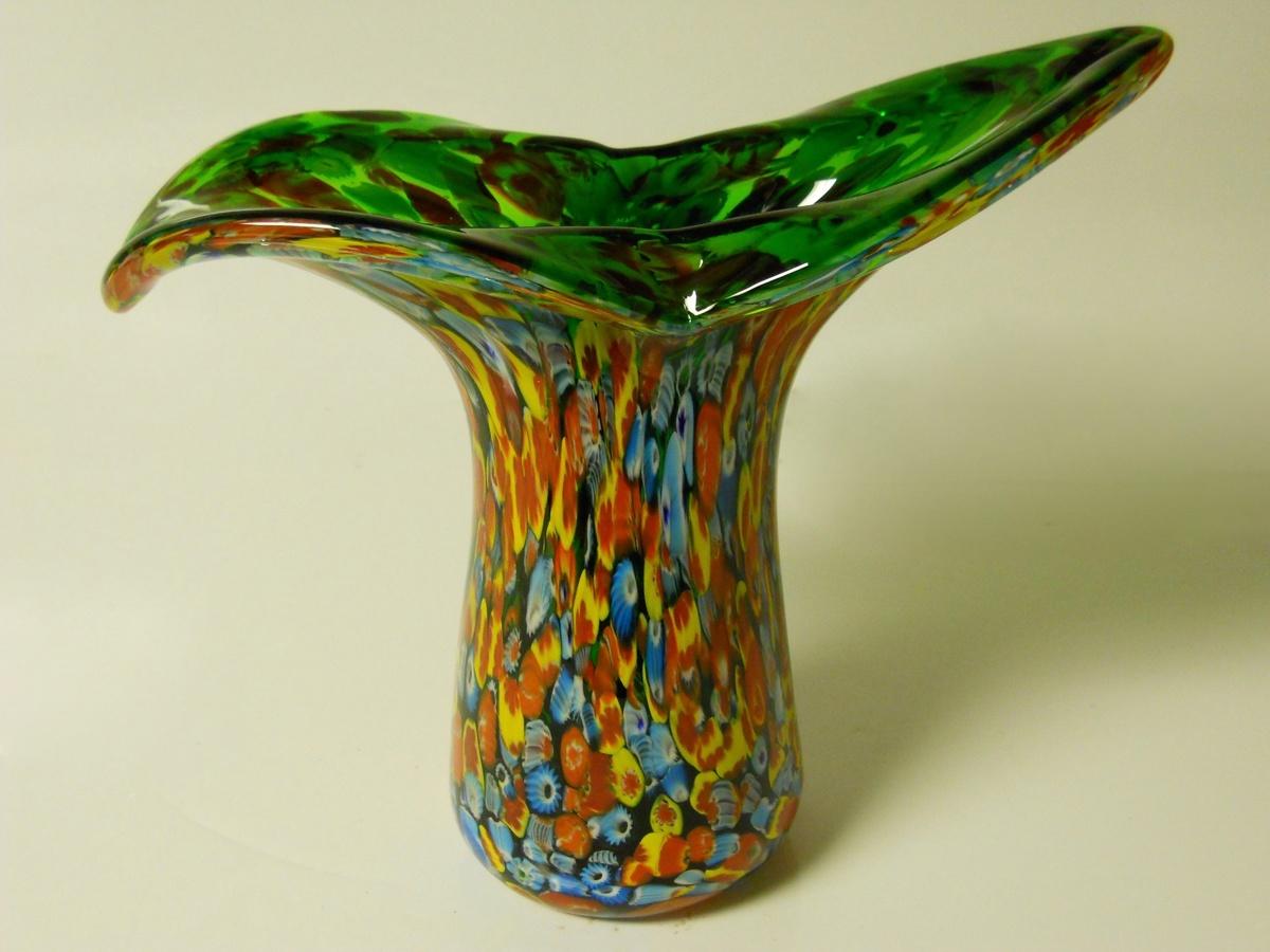 Vintage Murano Millefiori Vase Circa 1960 Collectors Weekly