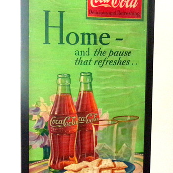 1932 Coca-Cola Cardboard Sign - Coca-Cola