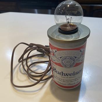 Budweiser can light - Breweriana