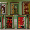 Gorgeous tin litho Durkee spice tins