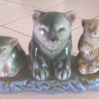 Bear 3 piece salt & pepper