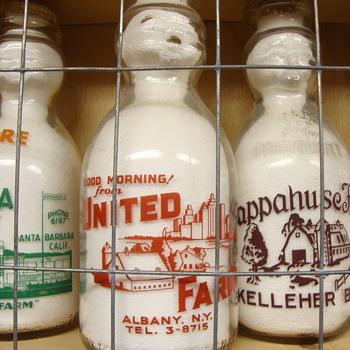 UNITED FARMS DAIRY...ALBANY NEW YORK BABY TOP MILK BOTTLE - Bottles