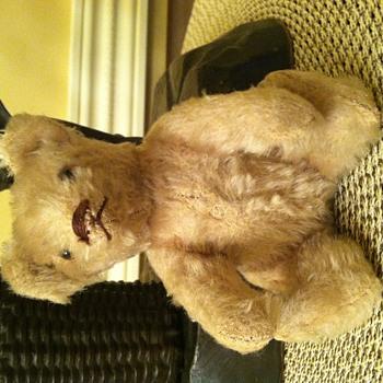 "Small 6"" Blonde Mohair Bear"