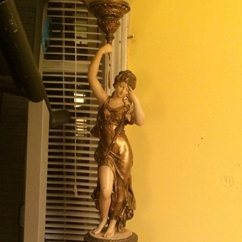 Antique goddess floor lamp - Lamps