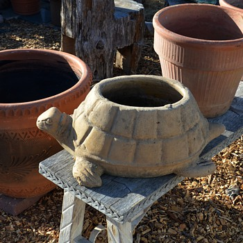 Large Terracotta Tortoise Planter - Pottery