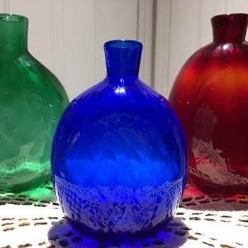 MMA Signed (Metropolitan Museum of Art) Small Glass Flasks - Art Glass