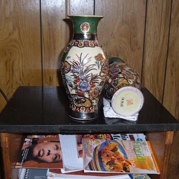 """china vase 12"""" - Asian"""
