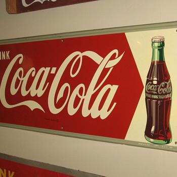 """Coca-Cola Sign  11 1/2"""" X 31 1/2"""" - Coca-Cola"""
